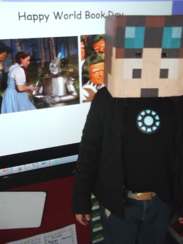 Charles with his Minecraft costume